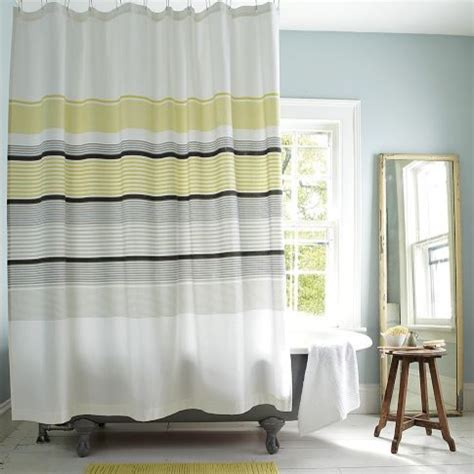 gray and yellow striped curtains gallery stripe shower curtain citron modern shower