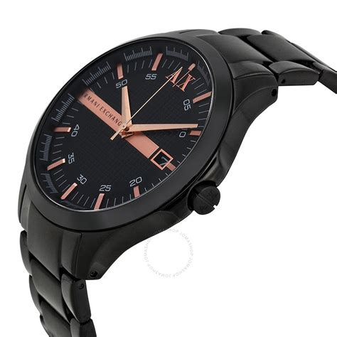 armani exchange black black ion plated s