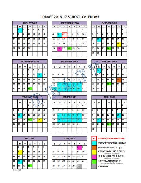 District 54 Calendar Academic Calendar Template State Calendar 2017 Calendar