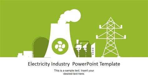 powerpoint template for electricity industry powerpoint template slidemodel