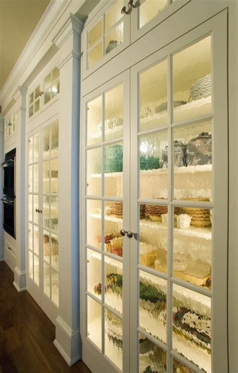 Pantry Cabinet With Glass Doors Pantry Doors With Textured Glass Decoist