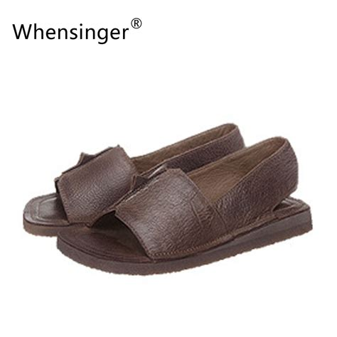 Whensinger 2017 Leather Shoes Handmade - buy wholesale womens slides from china womens