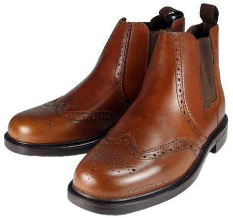 oaktrak black chestnut boys mens leather brogue