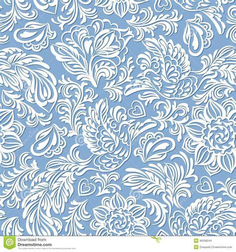 Muster Hintergrund Blumen Blau by Barockes Muster Mit Den V 246 Geln Und Blumen Blau Vektor