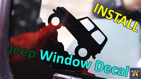 Window Decals How To Apply by How To Apply Jeep Wrangler Window Decal How To