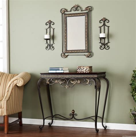 Entry Console Table With Mirror Entryway Console Table Mirror Set Home Design Ideas