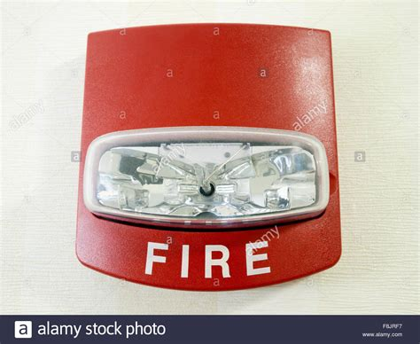 strobe light smoke alarms red fire alarm strobe light smoke detector mounted on a