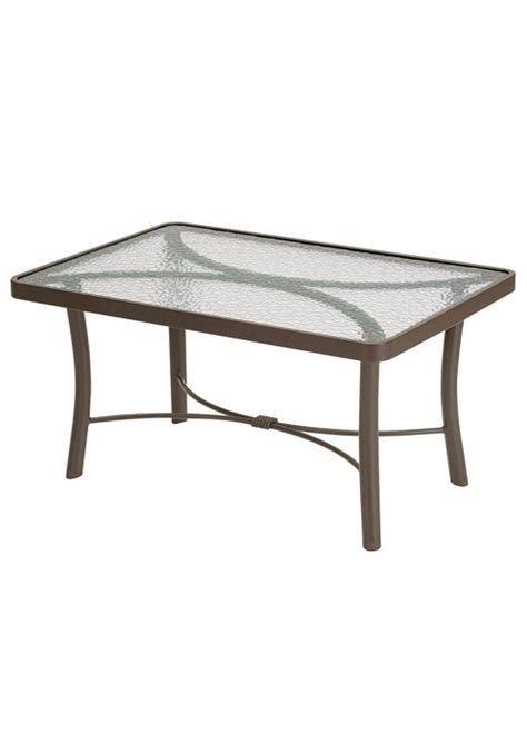 36 X 24 Coffee Table Obscure Glass Dinette Patio 24 Coffee Table