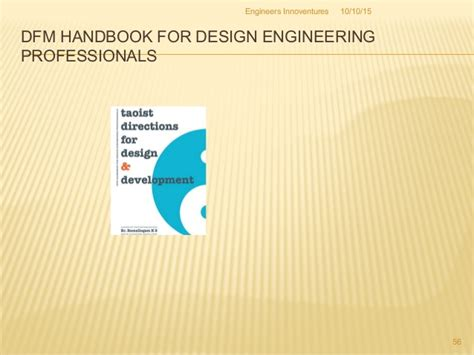 design for manufacturability handbook idea to product