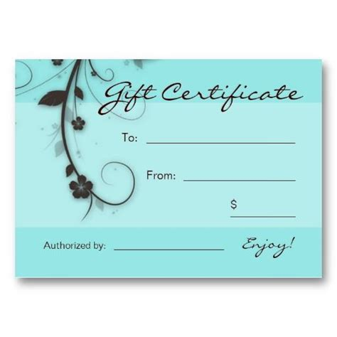 hair salon gift card templates 25 best gift certificate templates images on