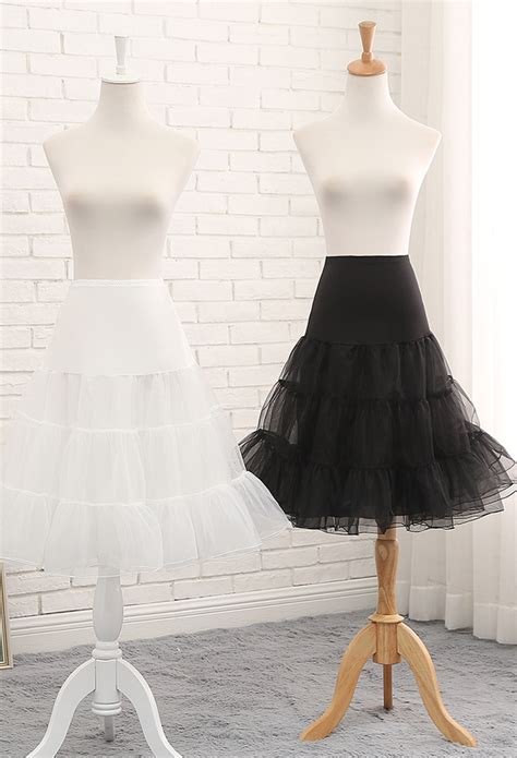 lolita  hoop mid length crinoline cosplay petticoat