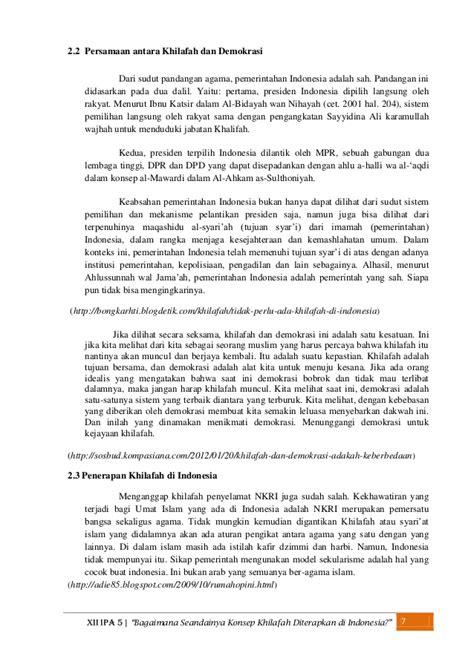Ahkam As Sulthoniyah bagaimana seandainya konsep khilafah diterapkan di indonesia