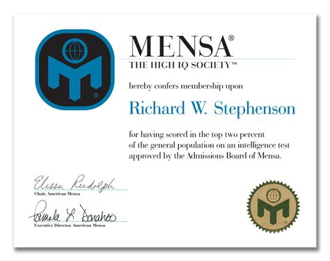 image gallery mensa certificate