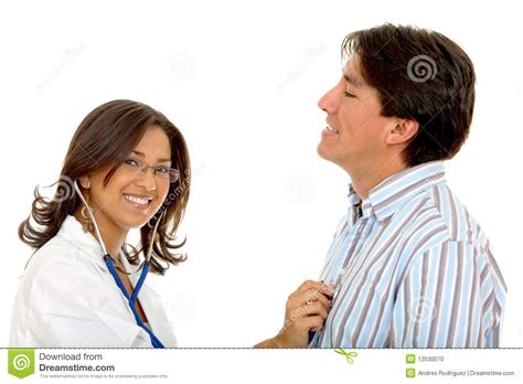 doctor examining woman female doctor examining a patient stock photo image