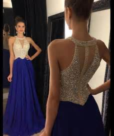 royal blue prom dress peals prom dress chiffon prom dress prom dresses 2017 halter prom