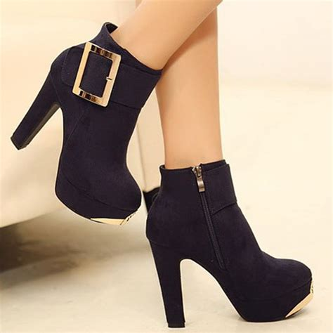 platform thick heel boots fashion autumn and winter ankle