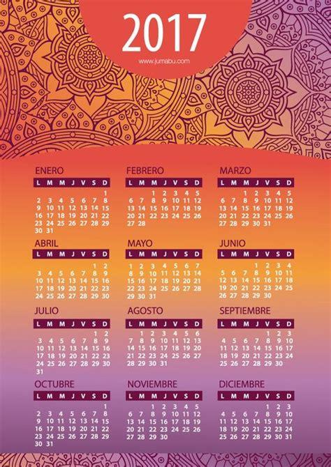 Calendario Con Whatsapp Calendario 2017 Mes A Mes Almanaques Para Descargar O