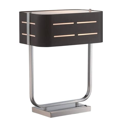 table ls with rectangular shades lite source birungi chrome table l with rectangle shade ls 22644 destination lighting
