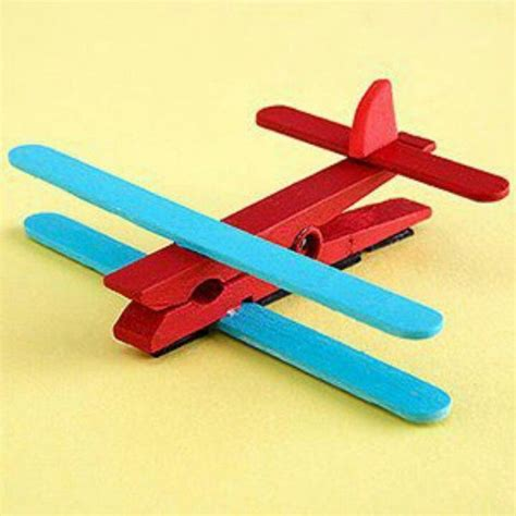 popsicle stick kid crafts clothespin and popsicle stick airplane projects to try
