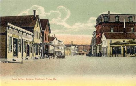 Post Office Auburn Maine by Postcards From Maine