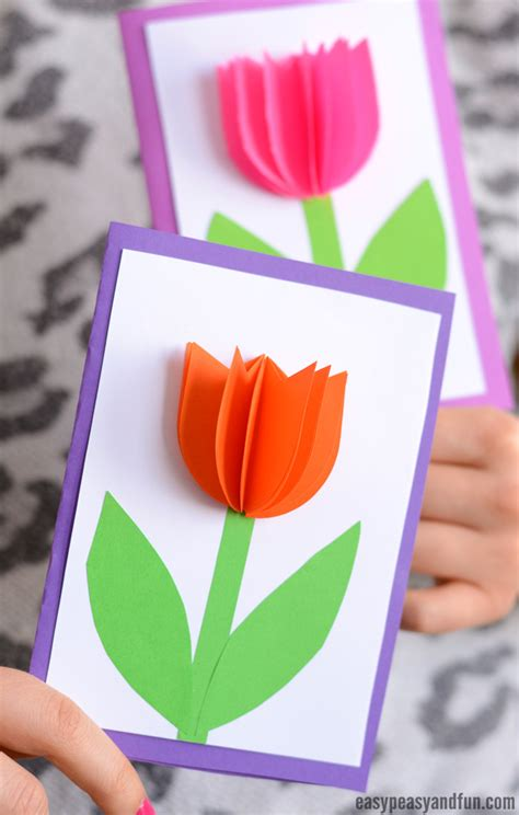 tulip template card 3d paper tulip card simple s day card idea easy