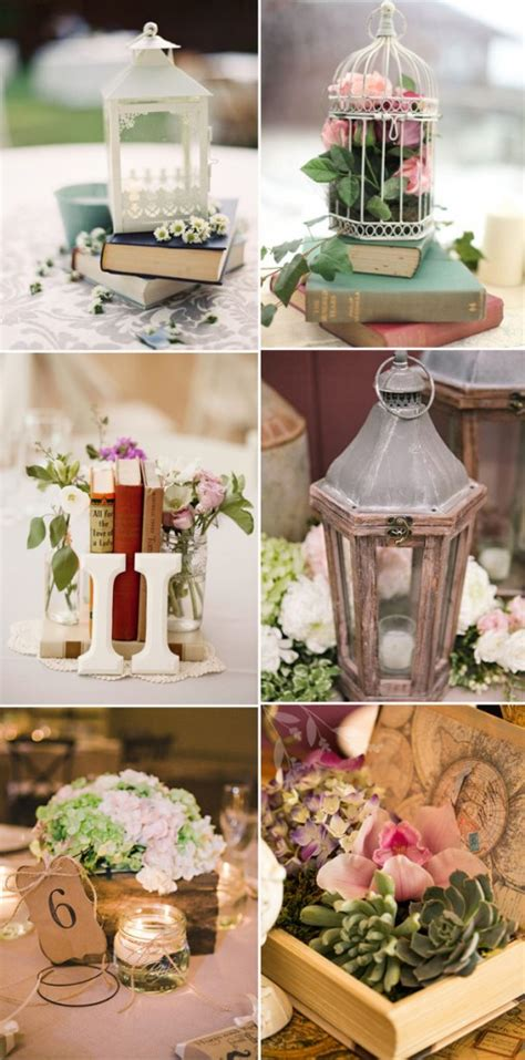 using lanterns for wedding centerpieces vintage themed wedding centerpieces with lanterns and books 187 w e d d i n g i n s p i r a t