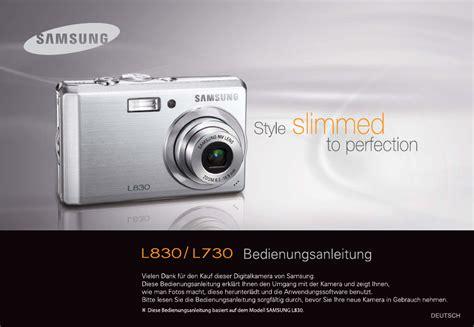 Kamera Samsung L830 bedienungsanleitung samsung l830 seite 1 111