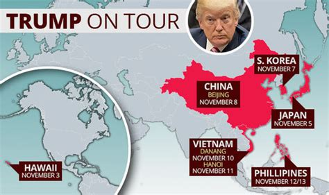 donald trump asia tour donald trump asia tour map where is donald trump going in