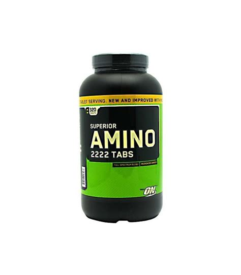 Amino On 2222 320 Tabs On Amino optimum nutrition superior amino 2222 tabs 320 c