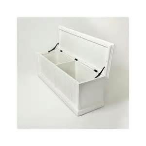 banc coffre de rangement en bois blanc royan