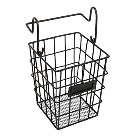 metal bathroom basket modular black metal mesh wire hanging kitchen dining