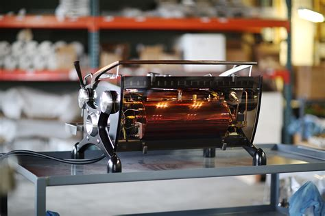 Handmade Espresso Machine - we need to talk about this glowing slayer espresso machine