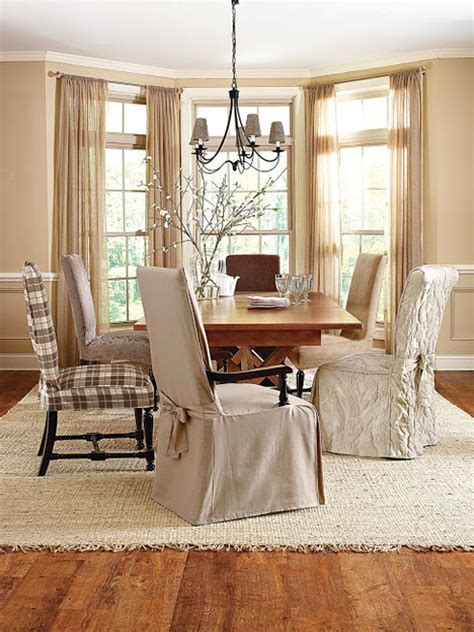 Chair Covers Dining Room by How To Beautify Your Home With Dining Room Chair Covers