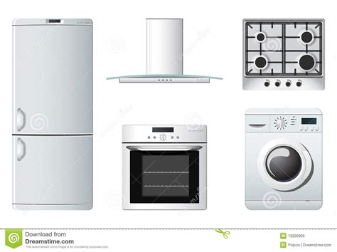 free kitchen appliances household appliances kitchen stock vector image 13200909