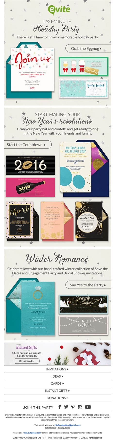email invitation design inspiration creative emails html email gallery