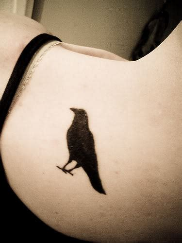 small crow tattoo small