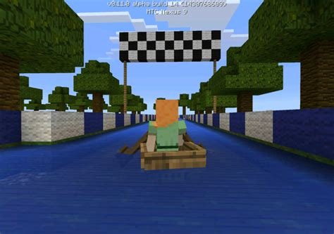 minecraft boat go up boat race minigame minecraft pe maps