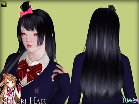 the sims resource tsr anime hair 199 by skysims sims 3 zauma s yume kotori hair