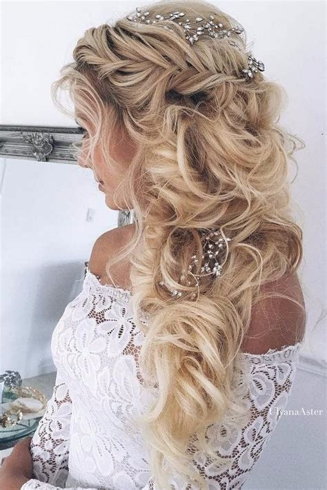 casual long hair wedding hairstyles best 25 accessoire coiffure mariage ideas on pinterest
