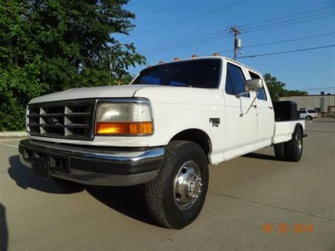 buy used 1997 ford f350 xlt 7 3l diesel 2wd 5speed manual dually crewcab custom flatbed in