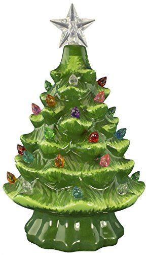 prelit ceramic tabletop tree w multicolored lights ceramic tabletop trees with lights more