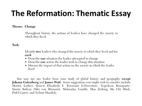 How To Write A Thematic Essay by Thematic Essay