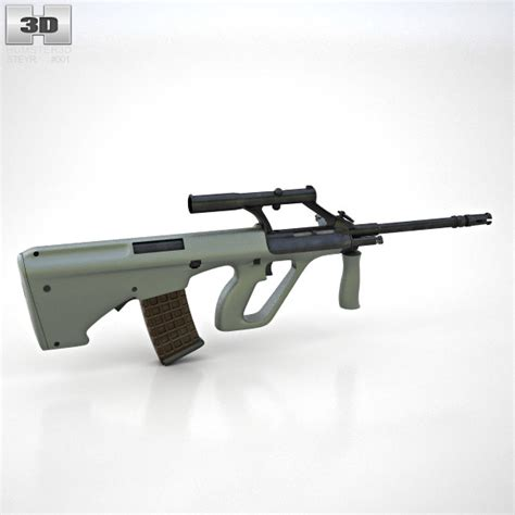steyr aug 1 steyr aug a1 3d model humster3d