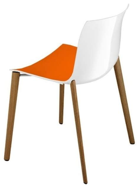 Modern Orange Dining Chairs Catifa Chair Orange White Modern Dining Chairs By Macer Home Decor Inc
