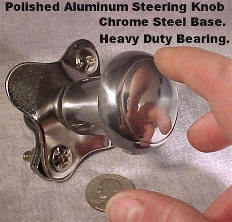 steering spinner brody knob polished aluminum new for car