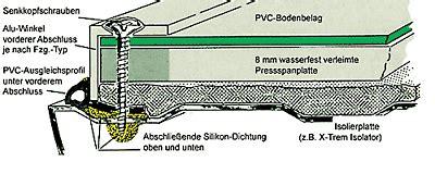 Pvc Boden Verlegen Wohnwagen by Reimo Ausbauratgeber 07 Boden