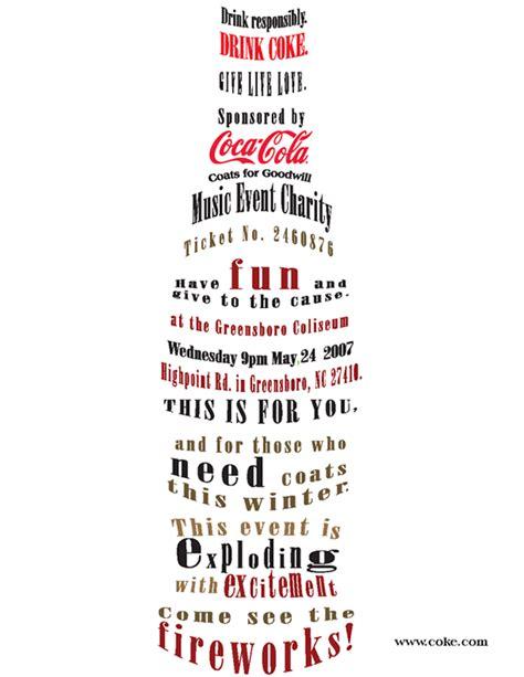typography in advertising typography magazine ad exle on behance