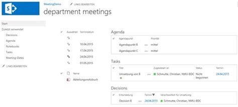 onenote as an alternative to the meeting workspace in