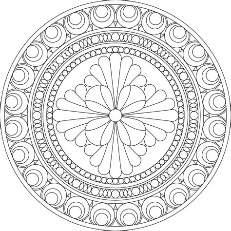 free coloring pages of healing mandala