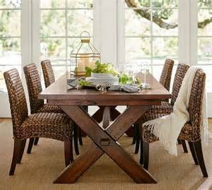 pottery barn dining room set seagrass side chair pottery barn